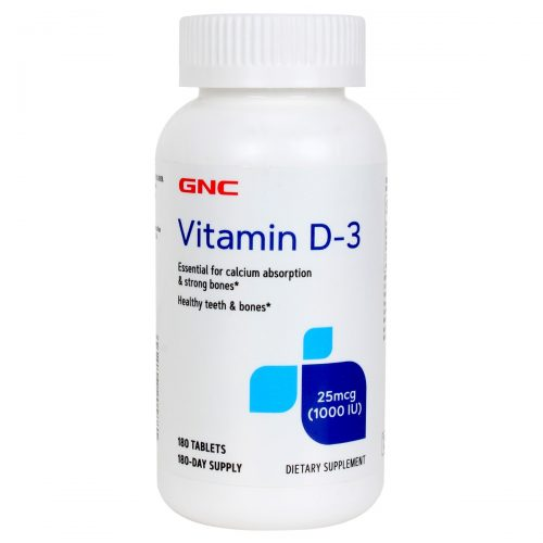 GNC Vitamin D-3 1000 IU 180 Tablets